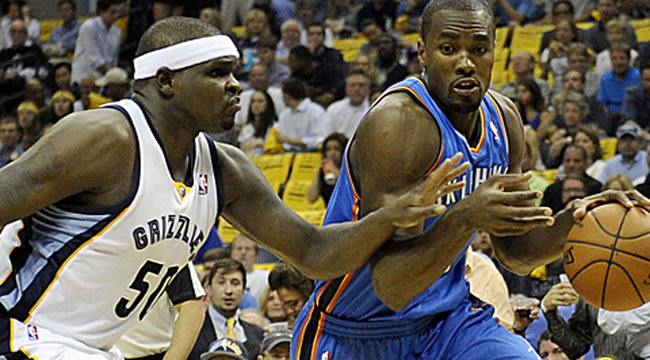 Grizz edge OKC in OT, take 2-1 series lead