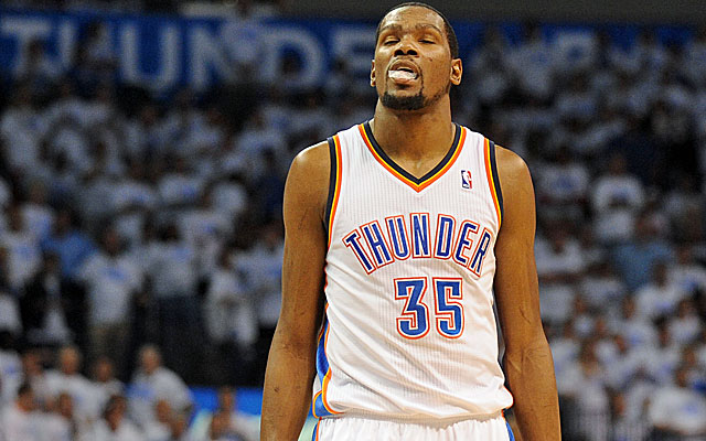 Kevin Durant was mysteriously absent for Oklahoma City down the stretch. (USATSI)