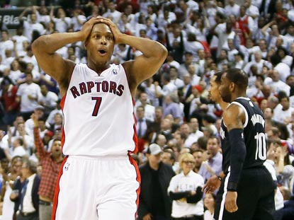Kyle Lowry and the Raptors can breath a sigh of relief after winning Game 5 despite blowing a 26-point lead in the second half. (USATSI)