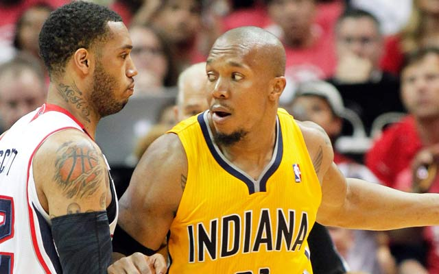 David West and the Pacers play 'park basketball' to extend the series. (USATSI)
