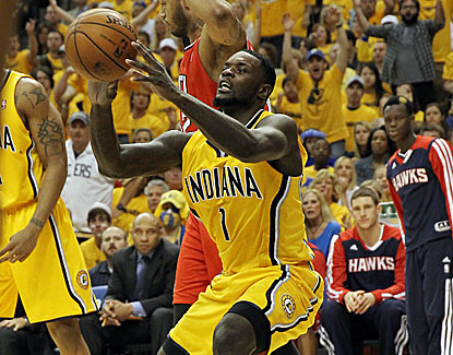Lance Stephenson comes up big for Indiana with 19 points and 14 rebounds in Game 7. (USATSI)