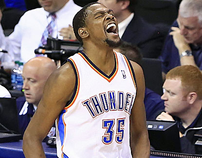 Kevin Durant goes off for 33 points to help Oklahoma City defeat Memphis in Game 7. (USATSI)
