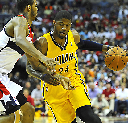 Paul George posts 23 points and eight boards, and the Pacers hold the Wizards to a franchise-low 63 points.  (USATSI)