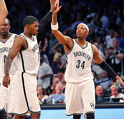 The Nets connect on a franchise playoff record 15 3-pointers en route to a Game 3 victory over the Heat.  (USATSI)
