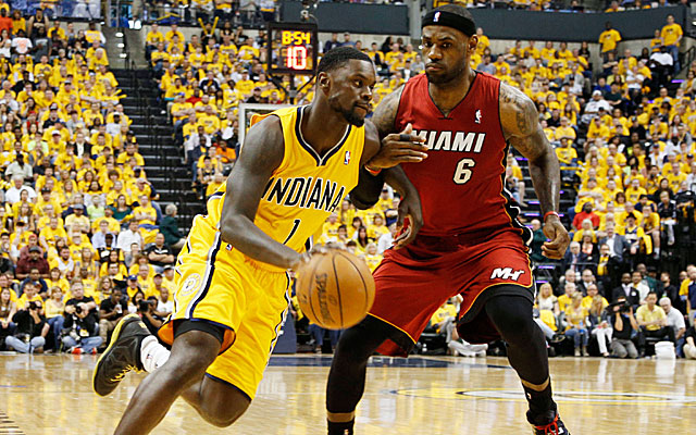 Lance Stephenson provides the Pacers with a big spark in a Game 1 win over Miami. (USATSI)