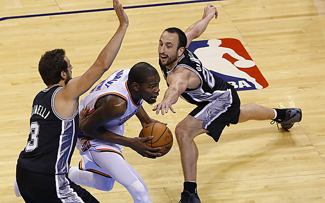 The Spurs are stretching their talent to match wits with the Thunder.  (USATSI)