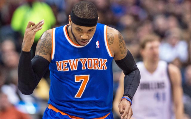 The Mavs are in position to make a strong run at Carmelo Anthony. (USATSI)