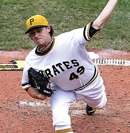 Pittsburgh starter Jeff Locke gives up just three hits and a walk in eight innings against the Phillies. (USATSI)