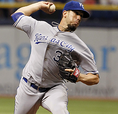 James Shields strikes out 10 in his return to Tropicana Field as the Royals blank the Rays.  (USATSI)