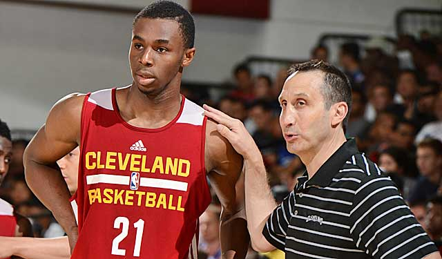 David Blatt says Andrew Wiggins is staying, but that could be fixed. Right? (Getty Images)