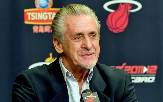 Pat Riley has no interest in bottoming out in the wake of LeBron's exit to Cleveland. (USATSI)