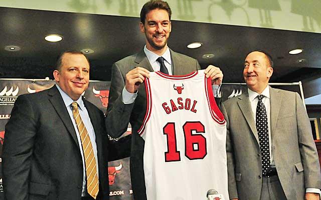 Pau Gasol immediately transforms Chicago's frontcourt.