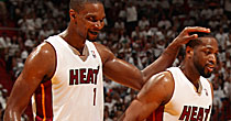 Chris Bosh and Dwyane Wade (Getty)
