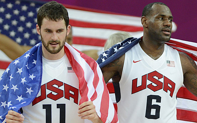 Kevin Love and LeBron James, who played together for Team USA in 2012, are reunied.  (USATSI)