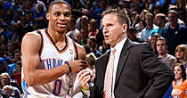 Russell Westbrook and Scott Brooks (Getty)