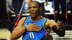 OKC's Westbrook sidelined