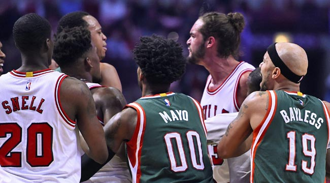Bucks, Bulls get intense after players collide