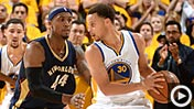 Steph Curry handles 650 (Getty Images)