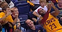 LeBron selfie (NBA TV)