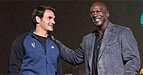 Michael Jordan, Roger Federer (Twitter)