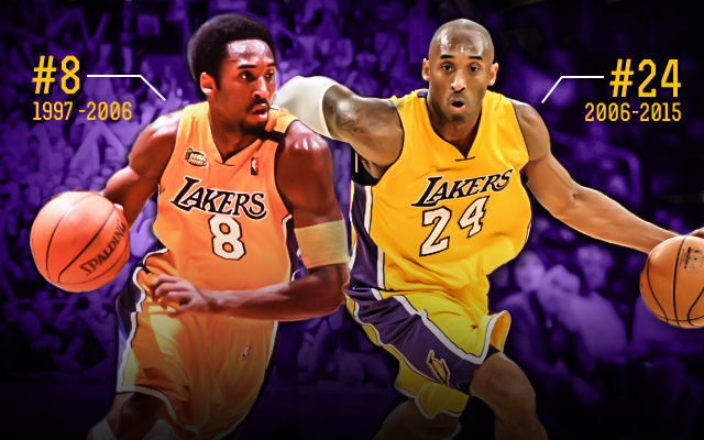 3dcb0ab73a9 Examining Lakers  dilemma  Retire Kobe Bryant s No. 8 or No. 24 ...