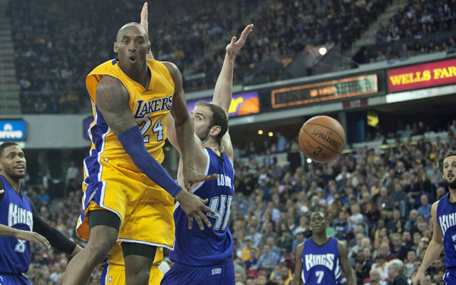 15febb9d7d3b Kobe Bryant s last night in Sacramento hit him right in the heart ...