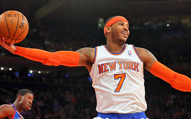 Happy anniversary to Melo and the Knicks. Their marriage has lasted five years and counting. (USATSI)