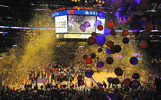 the best attitude 30b11 b68bc Wonder if that  bag of air  from Kobe s finale has any confetti trapped  inside