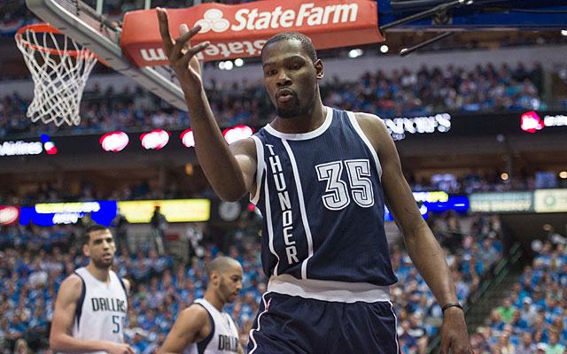 6e38057f977e Kevin Durant and the Thunder looked like themselves again. (USATSI)