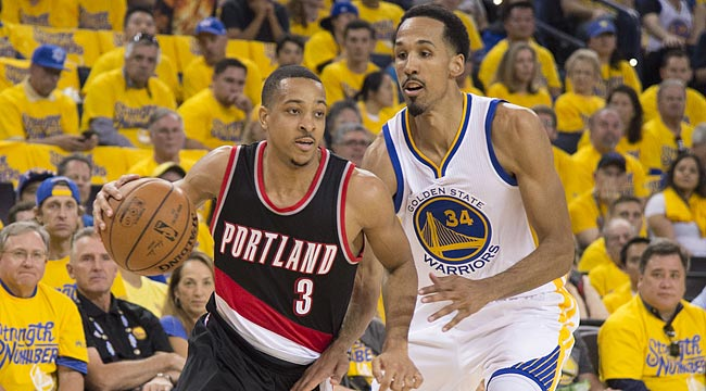 LIVE: Blazers-Warriors, Game 1