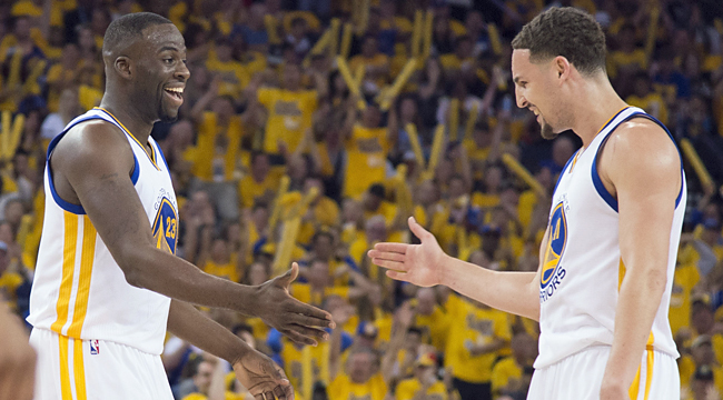 Warriors rout Blazers in Game 1