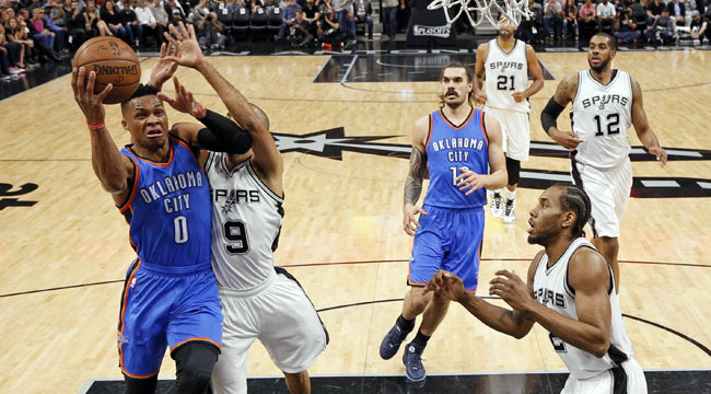 LIVE: Thunder-Spurs, Game 2