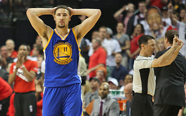 This was a tough loss for Klay Thompson and the Warriors. (USATSI)