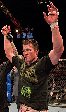 Chael Sonnen claims he will 'retire' champ Anderson Silva in their fight Saturday night. (Photo courtesy UFC)