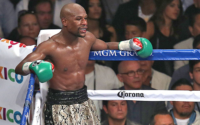 Floyd Mayweather Jr. will put his unblemished record on the line vs. Manny Pacquiao. (Getty Images)