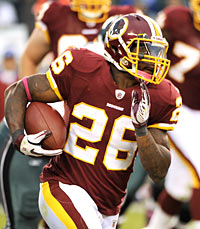 The possible return of Clinton Portis could cloudy Washington's backfield. (US Presswire)