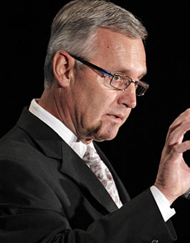 Jim Tressel's team, used to owning the Big Ten, has national title aspirations as well. (AP)