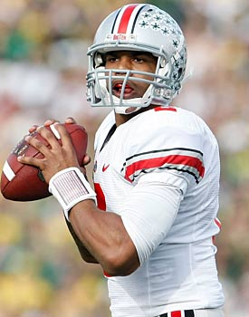 Quarterback Terrelle Pryor hopes to improve greatly on last season's 56.6 percent completion rate. (Getty Images)