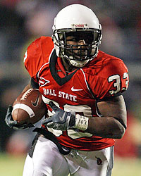 Ball State's MiQuale Lewis looks to return to his 2008 form, where he rushed for 1,736 yards. (Getty Images)
