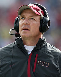 Things are looking up as Jimbo Fisher is now in charge at Florida State. (Getty Images)