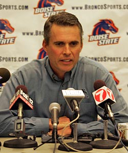 Chris Petersen will have some interesting opening comments when he meets the press. (US Presswire)