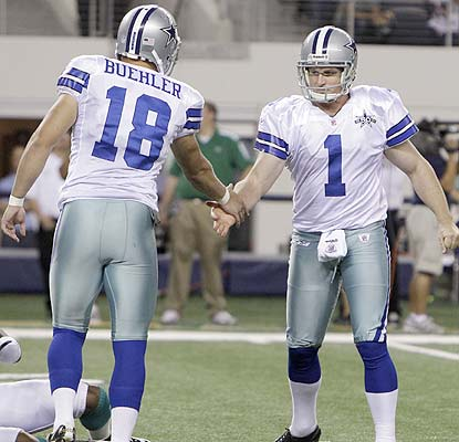 The Cowboys have themselves a kicker as David Buehler hits three field goals, including the game-winner. (AP)