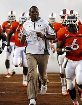 Randy Shannon and Co. won't be intimidated by the Horseshoe. (AP)