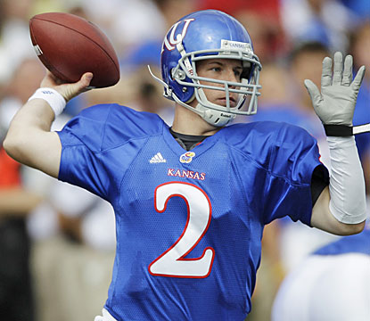 Jordan Webb takes over the Kansas offense and throws three touchdowns while the Jayhawks roll up 407 total yards. (AP)