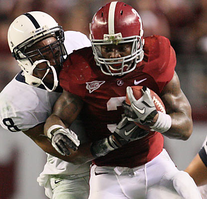 RB Trent Richardson (144 rushing yards, TD) more than helps Alabama overcome the absence of Mark Ingram.  (US Presswire)