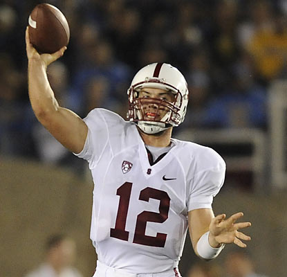 Andrew Luck does his part in Stanford's shutout over UCLA. The sophomore finishes with 232 total yards and two TDs.  (AP)