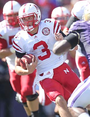 QB Taylor Martinez gets out in front of Nebraska's running attack. (Getty Images)