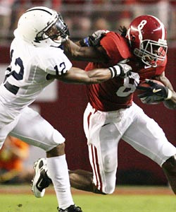 Julio Jones' Crimson Tide showed Penn State and the Big Ten the strength of the SEC. (US Presswire)