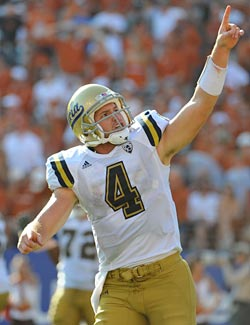 UCLA QB Kevin Prince knows which way the Pac-10 is headed. (US Presswire)