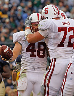 Stanford is one of four unbeaten Pac-10 teams ranked in the top 18 in the nation. (Getty Images)